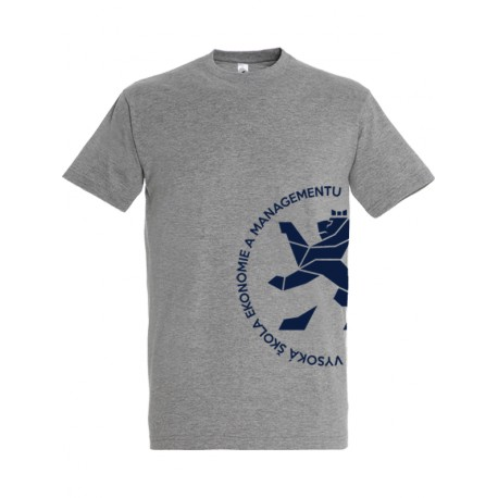 Univerzitní tričko šedé