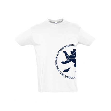 Univerzitní tričko bílé