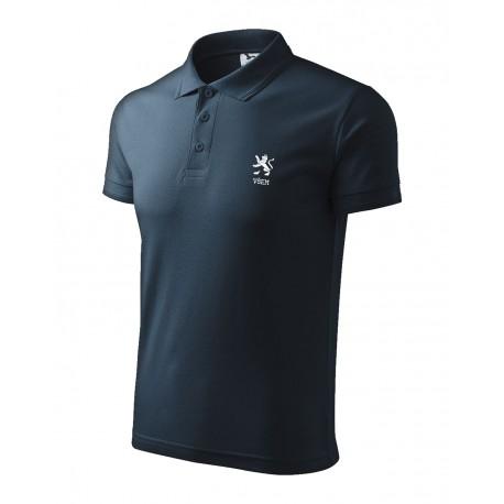 Univerzitní tričko POLO modré