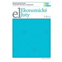 Ekonomické listy 1 - 3/2014