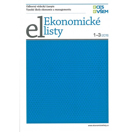 Ekonomické listy 1-3/2016